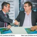ATI y ASEITEC firman un convenio de colaboración para impulsar el sector TIC en Catalunya
