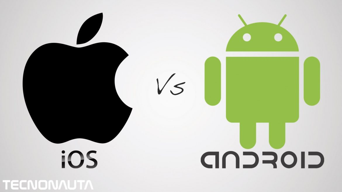Teléfono Android contra Iphone