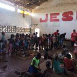 Remar S.O.S Mozambique informa: Cientos de niños acuden diariamente a recibir alimentación.