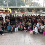 Equipo de futbol americano los arlequines celebra la navidad con los niños de Remar México