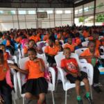 Jornada de prevención COVID-19 para más de 800 niños y jóvenes en el colegio Arca de Noé en Remar Mozambique